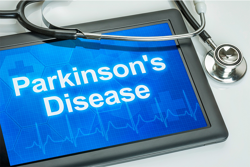 parkinsons disease on physicians tablet